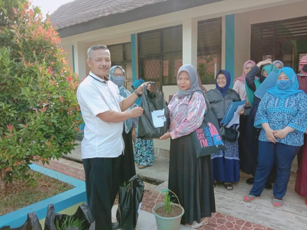 SISWA SMPN 2 CAMPAKA TANAM PADI DI RUMAH LEWAT MEDIA EMBER