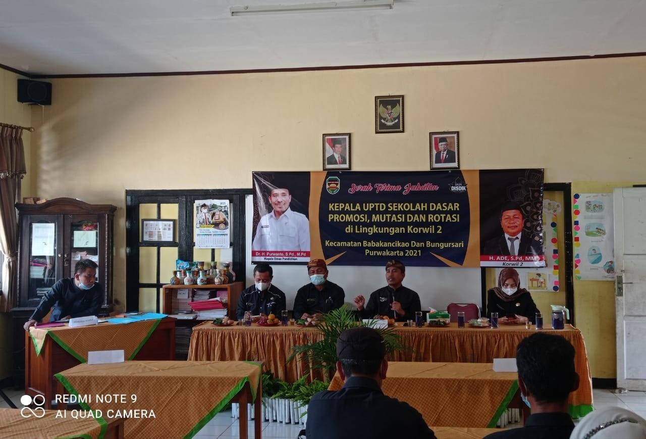 Sertijab Kepsek Baru Wilayah Bungursari dan Babakan Cikao