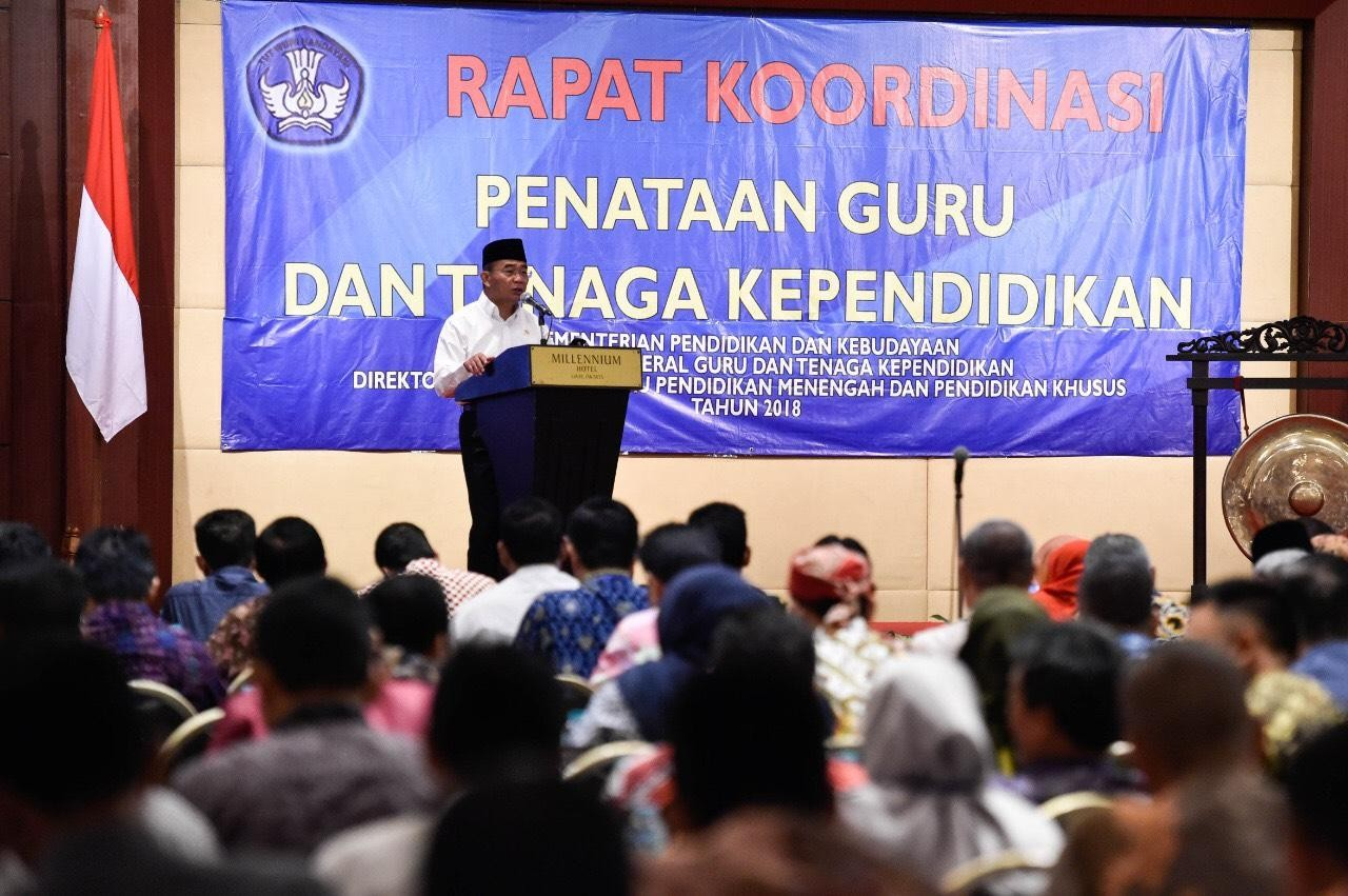 Kemendikbud Terus Berkoordinasi dengan Pemerintah Daerah untuk Pemetaan Kebutuhan Guru 2019