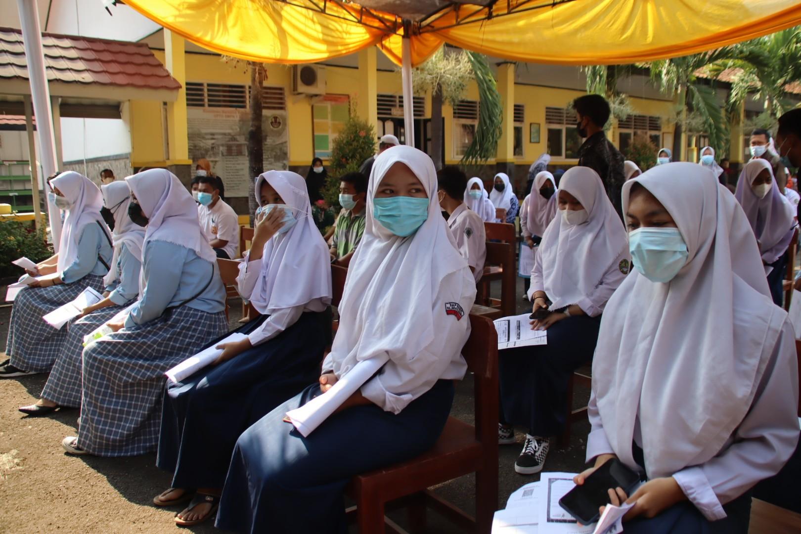2.000 Pelajar SMP dan SMA/SMK Purwakarta di Vaksin Hari ini