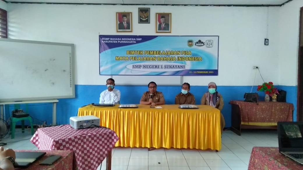 MGMP Bahasa Indonesia Jenjang SMP Se-Kabupaten Purwakarta Gelar Bimtek PISA