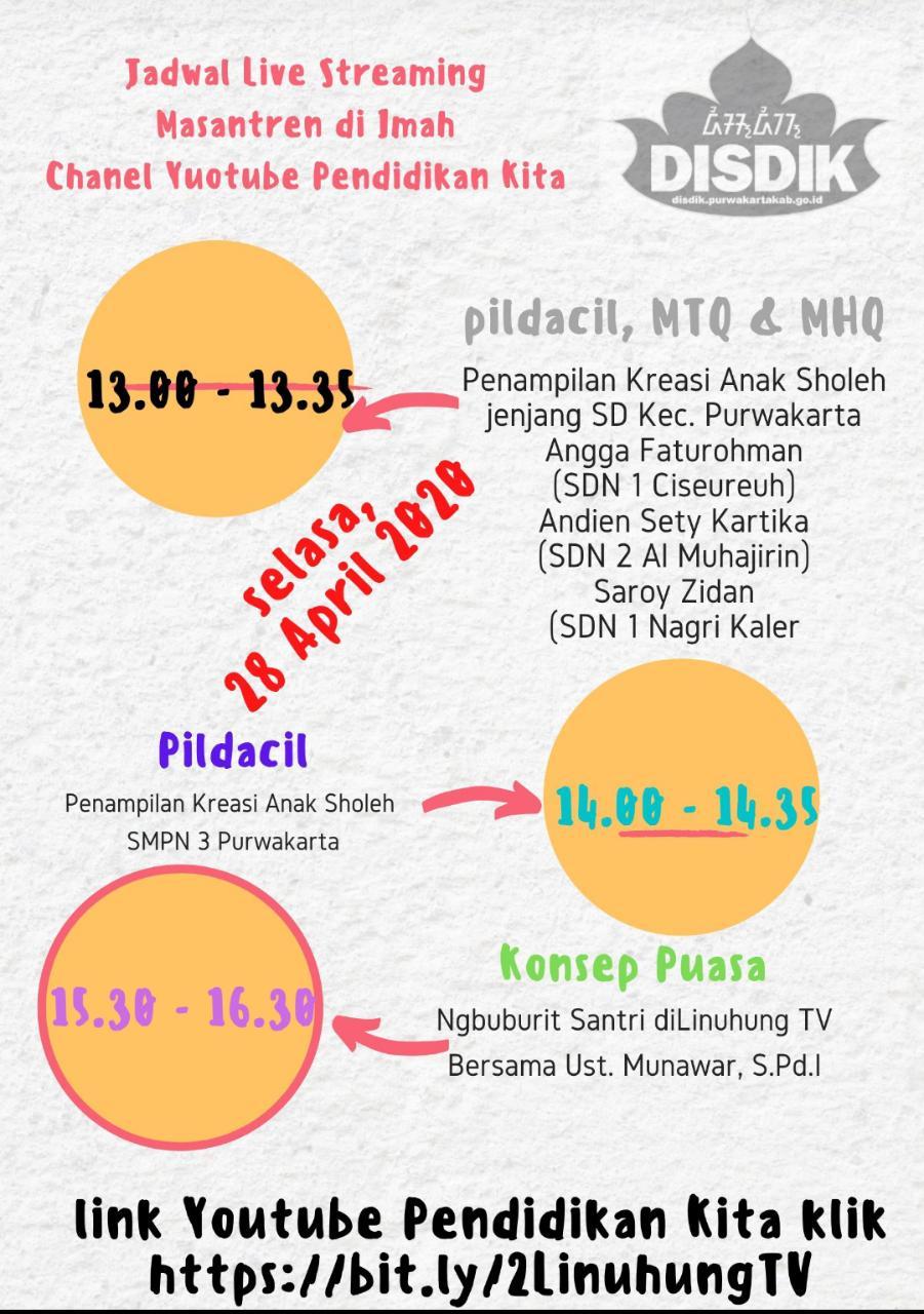 Jadwal Live Streaming LinuhungTV Masantren Di Imah
