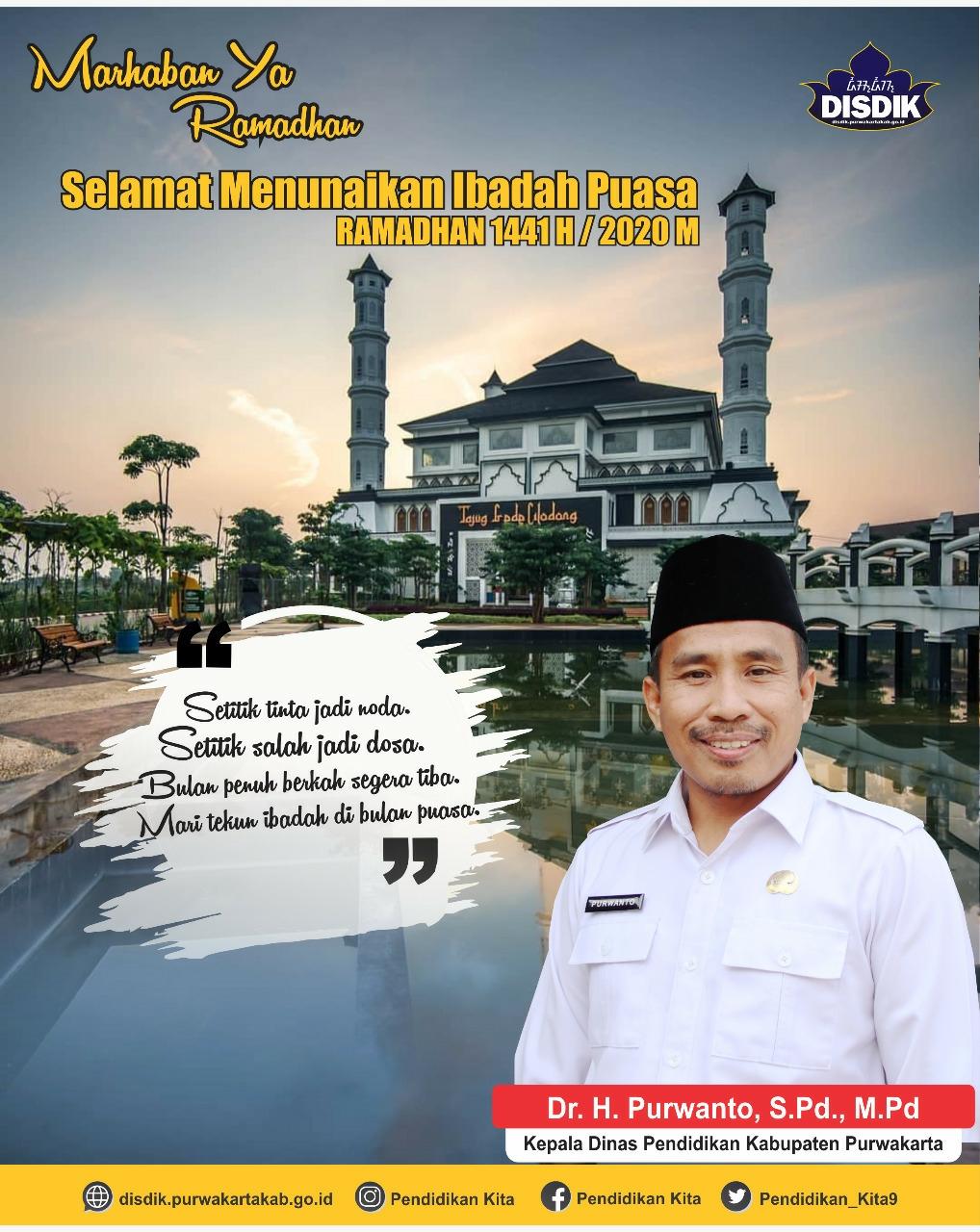 Selamat Menjalankan Ibadah Puasa Ramadan 1441 Hijriyah / 2020 M