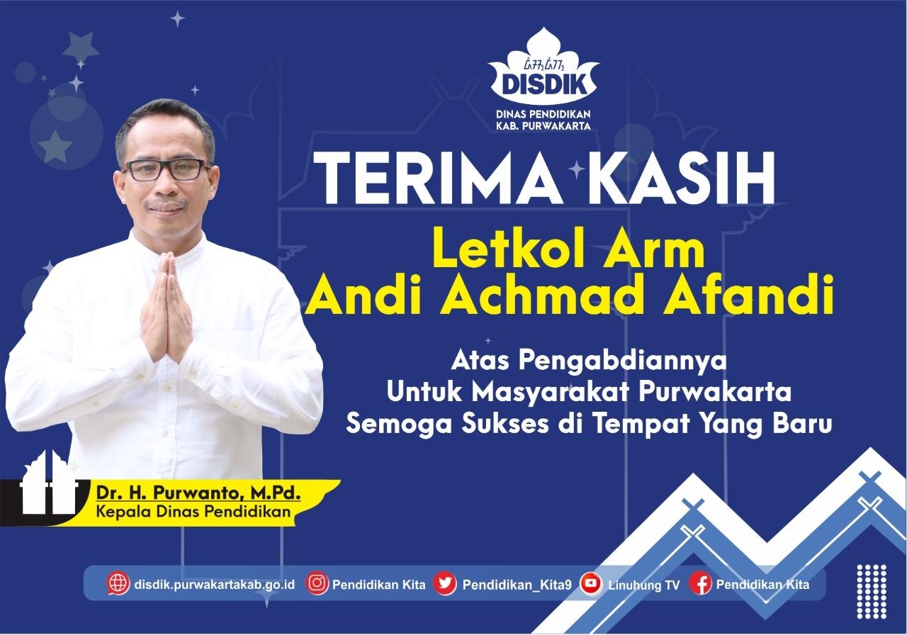 UCAPAN LETKOL Arm Andi Achmad Afandi